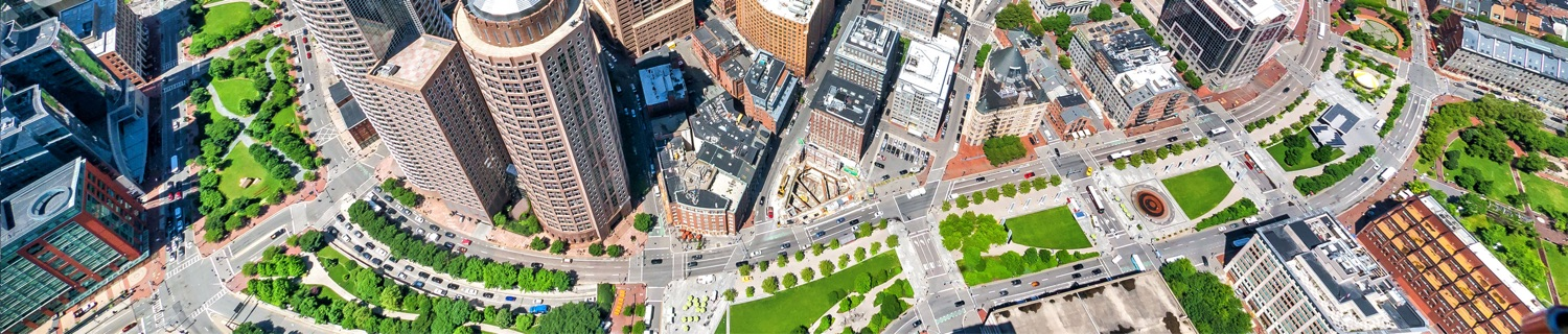 The Rose Kennedy Greenway - Aerial View