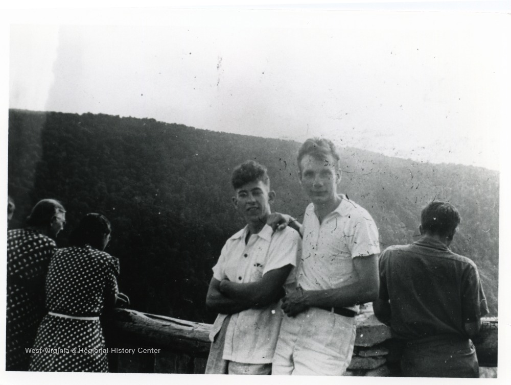 Tourists on the overlook, ca. 1945