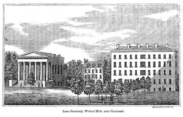 Established in 1830 Lane Theological Seminary came to symbolize the diverging beliefs about slavery held in the Presbyterian Church. (Image Credited to Oberlin Lane Debates Resources))