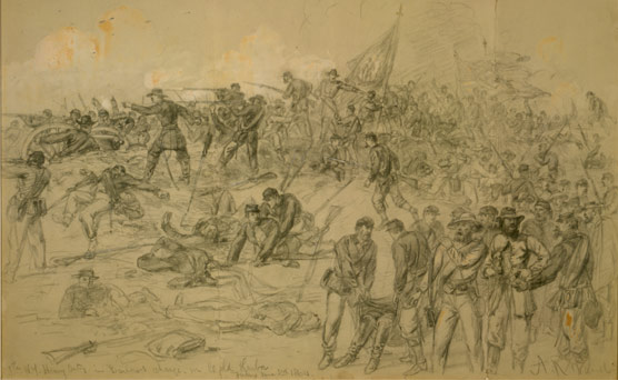 Painting of the Battle of Cold Harbor.