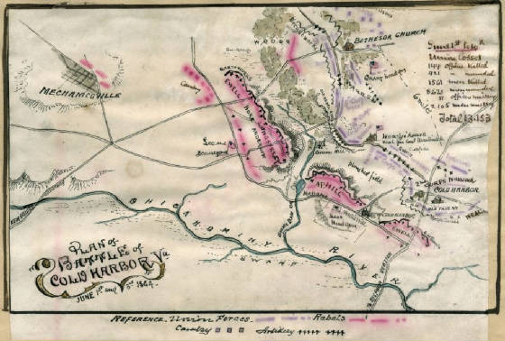 Map of Cold Harbor.