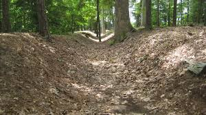 A section of some of the more well preserved Confederate trenches