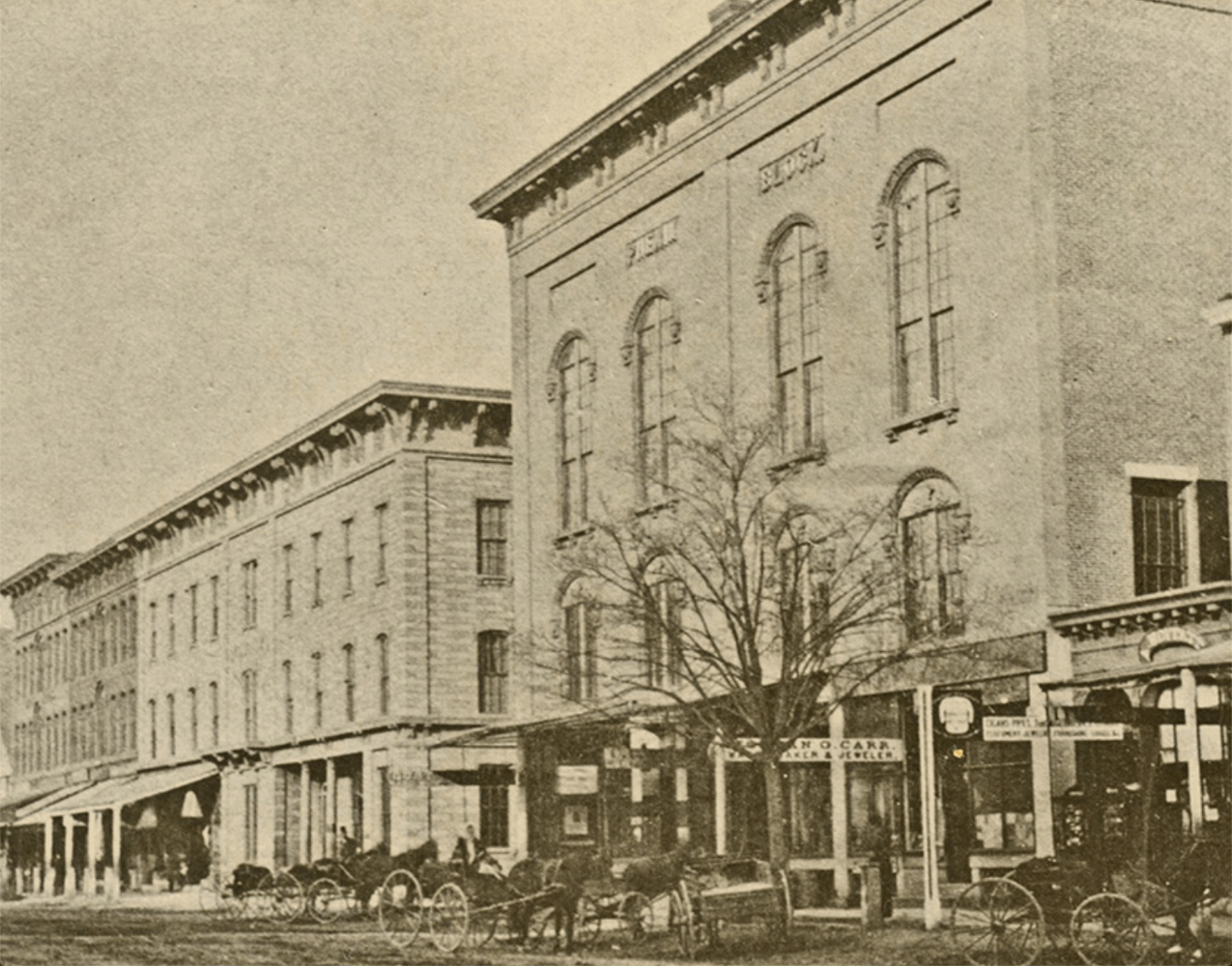 1895 Image of the Phenix Hall, Concord, NH