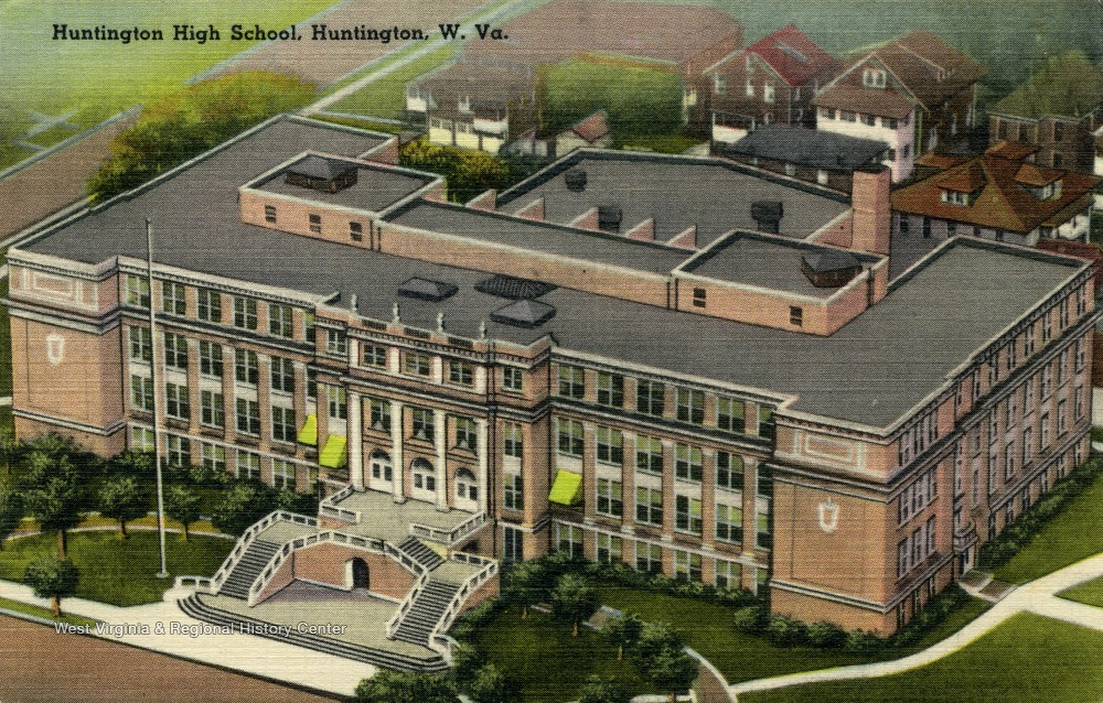 Huntington High School, circa 1940