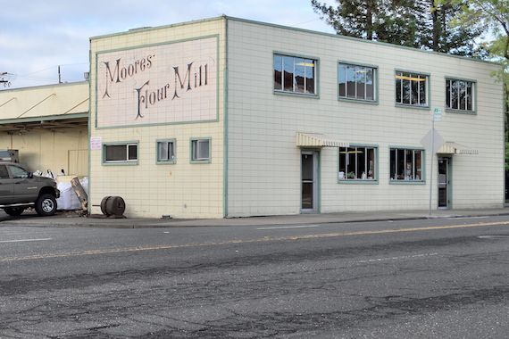 Moores' Flour Mill on Shasta Street in Redding