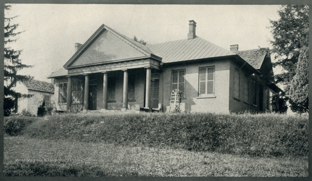 Ca. 1900-1910 photograph of the Waitman T. Willey House