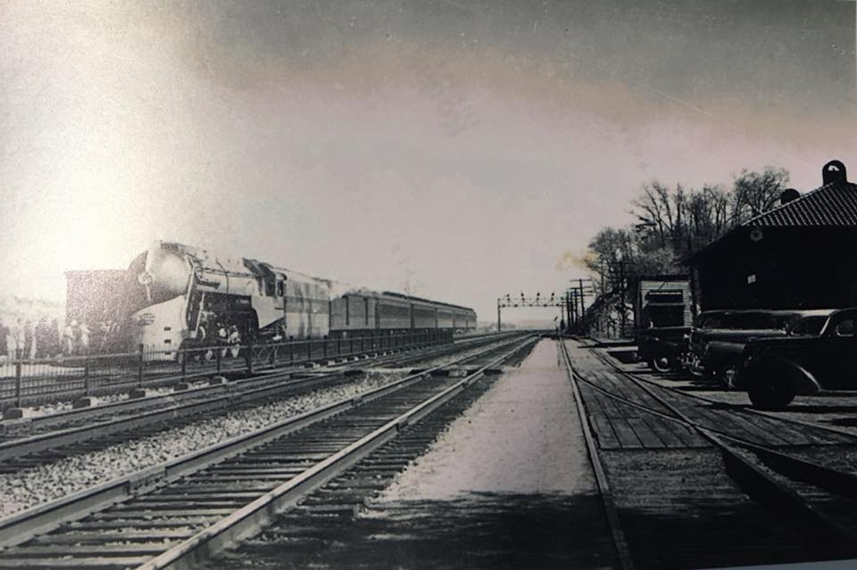 A Locomotive Pulling Into the Hyde Park Railroad Station, Early 20th Century