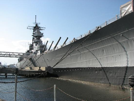 USS Wisconsin currently docked in Norfolk, VA.