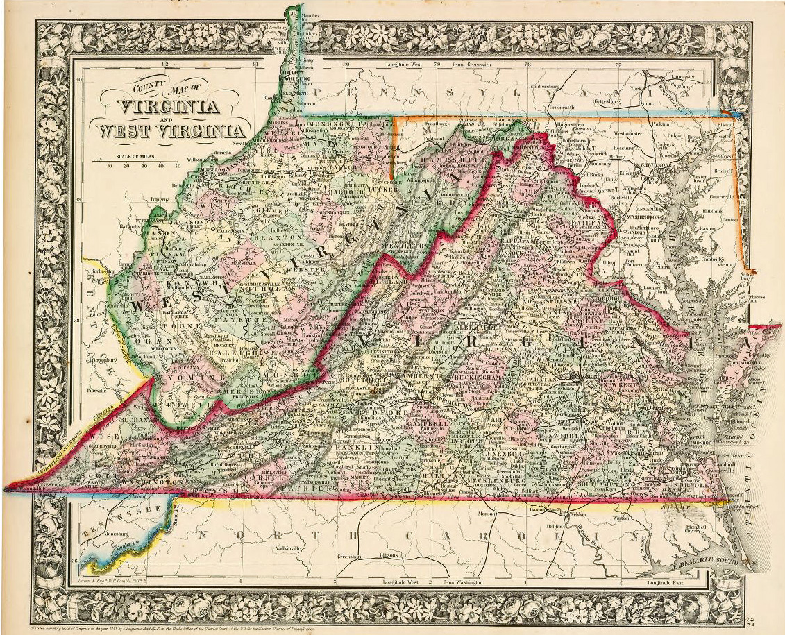Map of West Virginia (1863)
