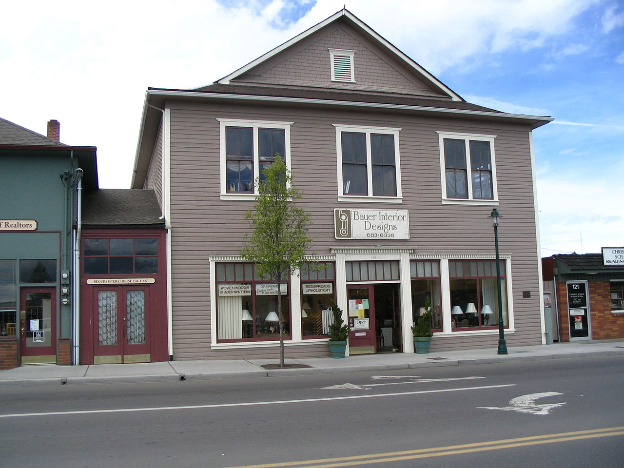 Built in 1907, the former Sequim Opera House is one of the oldest buildings in the city.