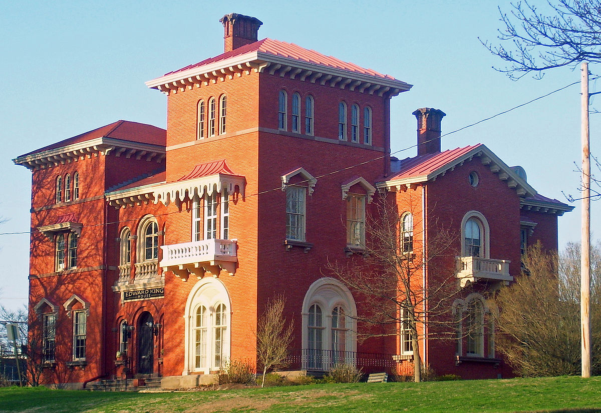 The Edward King House is one of the earliest examples of Italianate architecture in the United States.