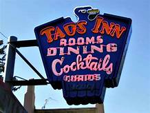 The Famous Historic Taos Inn Sign