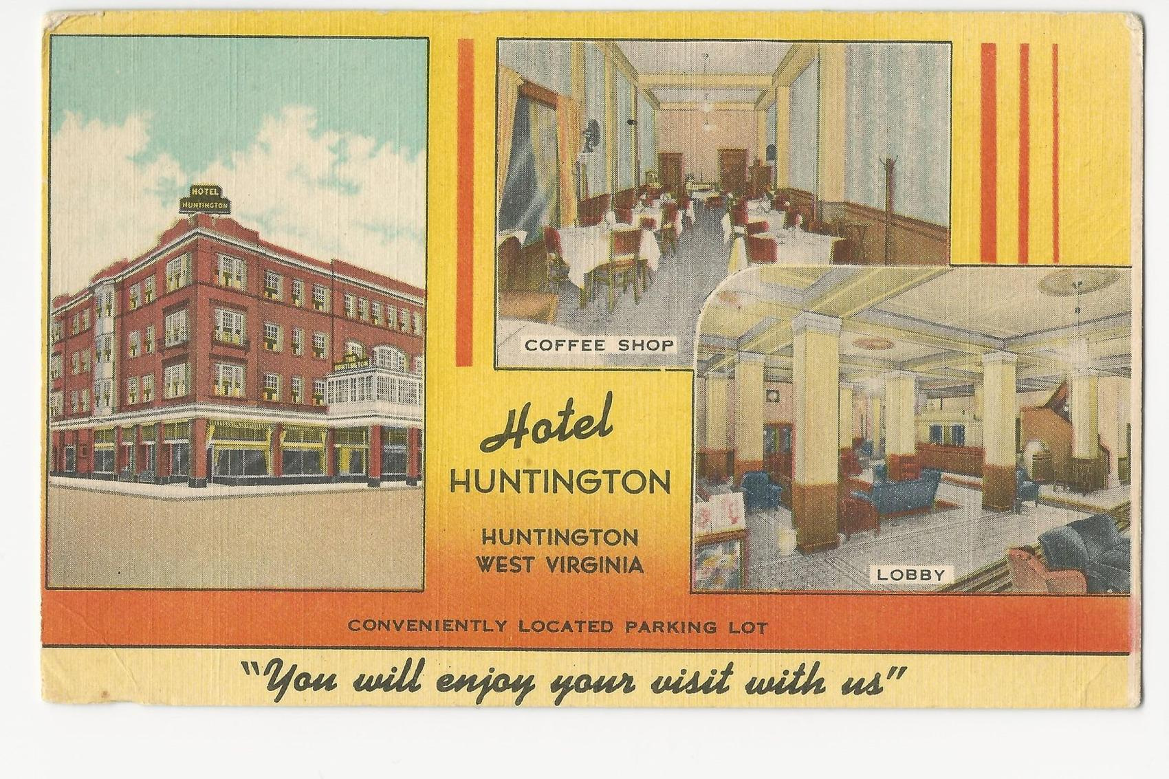 Postcard advertising the Hotel Huntington