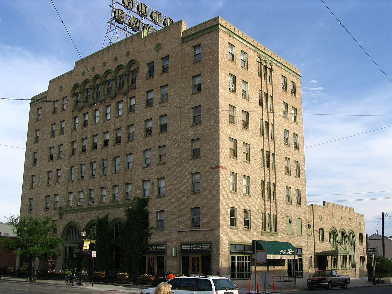 The Baxter Hotel was built in 1929. It is an excellent example of Art Deco architecture.