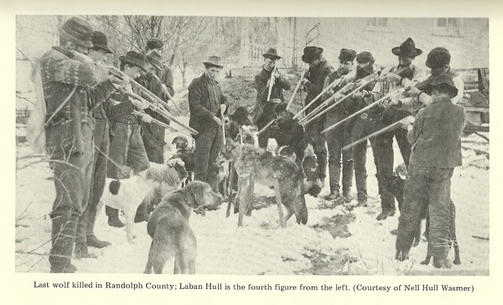 "1941 Reconstruction of the 1897 wolf hunt, taken in the wake of the ""Blue Devil"" scare."