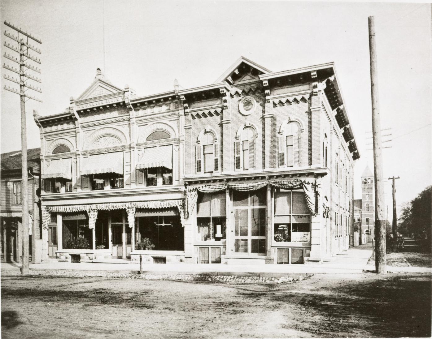 1893 Photo of the Weinmann Block in Ann Arbor