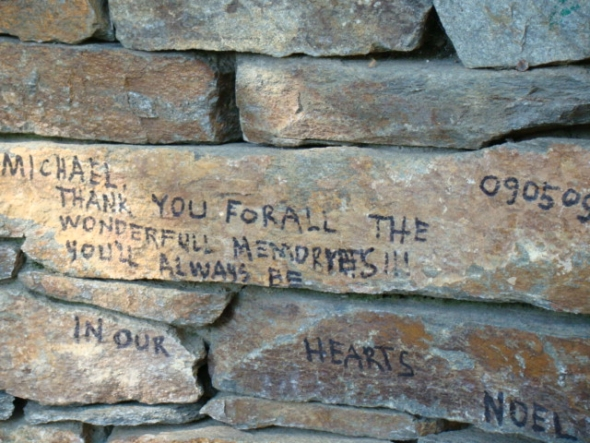 In 2009, hundreds of messages were scrawled on the walls of Neverland as thousands of fans descended to Michael Jackson's home to pay their respect.