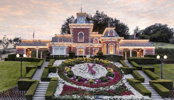 The famous flower clock at Neverland.