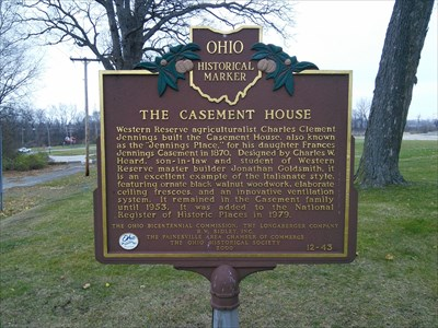Ohio Historical Marker: The Casement House