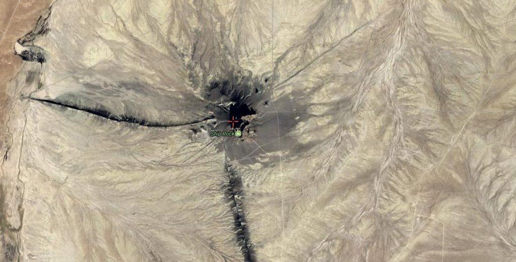 Satellite View of Shiprock