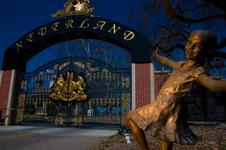 The iconic gates of Neverland.