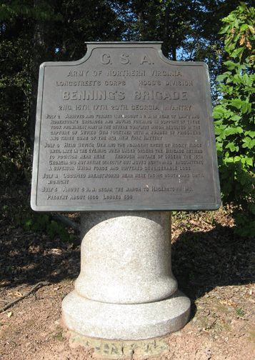 Monument to Benning's Brigade