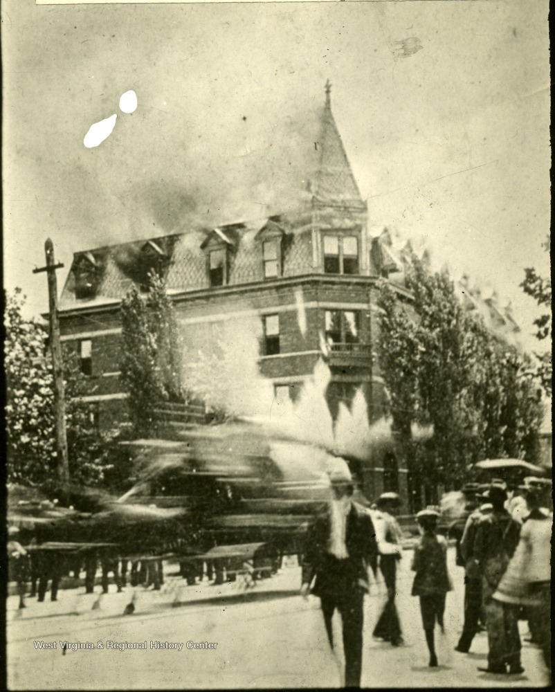 The fire on July 2, 1901 destroyed the hotel