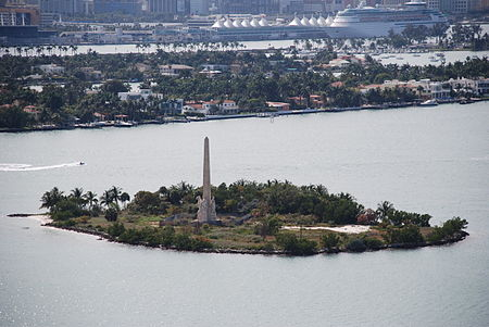 Flagler Island and Monument honor the city's leading booster, Henry Flagler