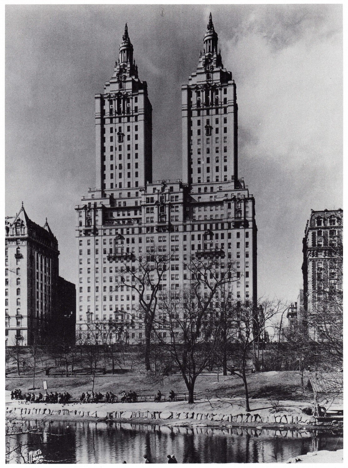 The Italian Renaissance Style San Remo Apartments, Early 1930s