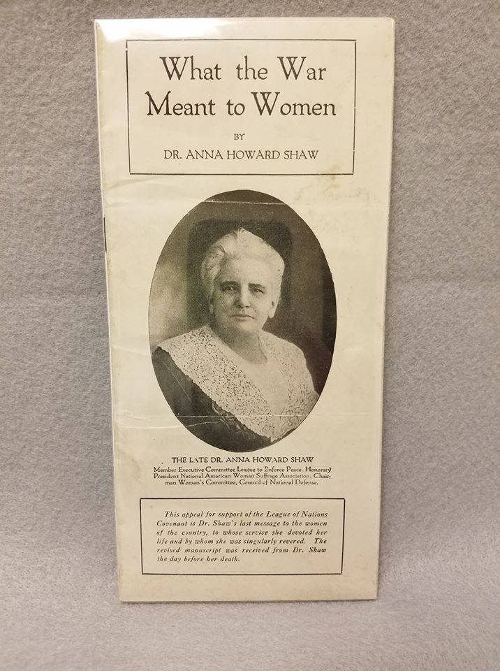 Dr. Anna Howard Shaw came to Urbana in the 1890s to lead the women's suffrage movement.