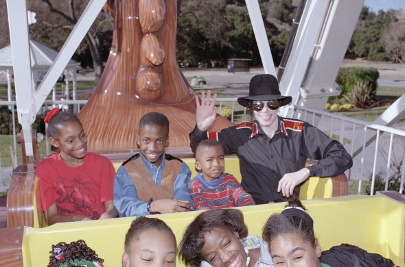 Michael Jackson was very generous with what he had and loved sharing it with the children.