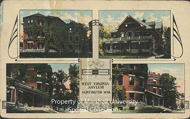 Postcard showing four views of the hospital, 1912