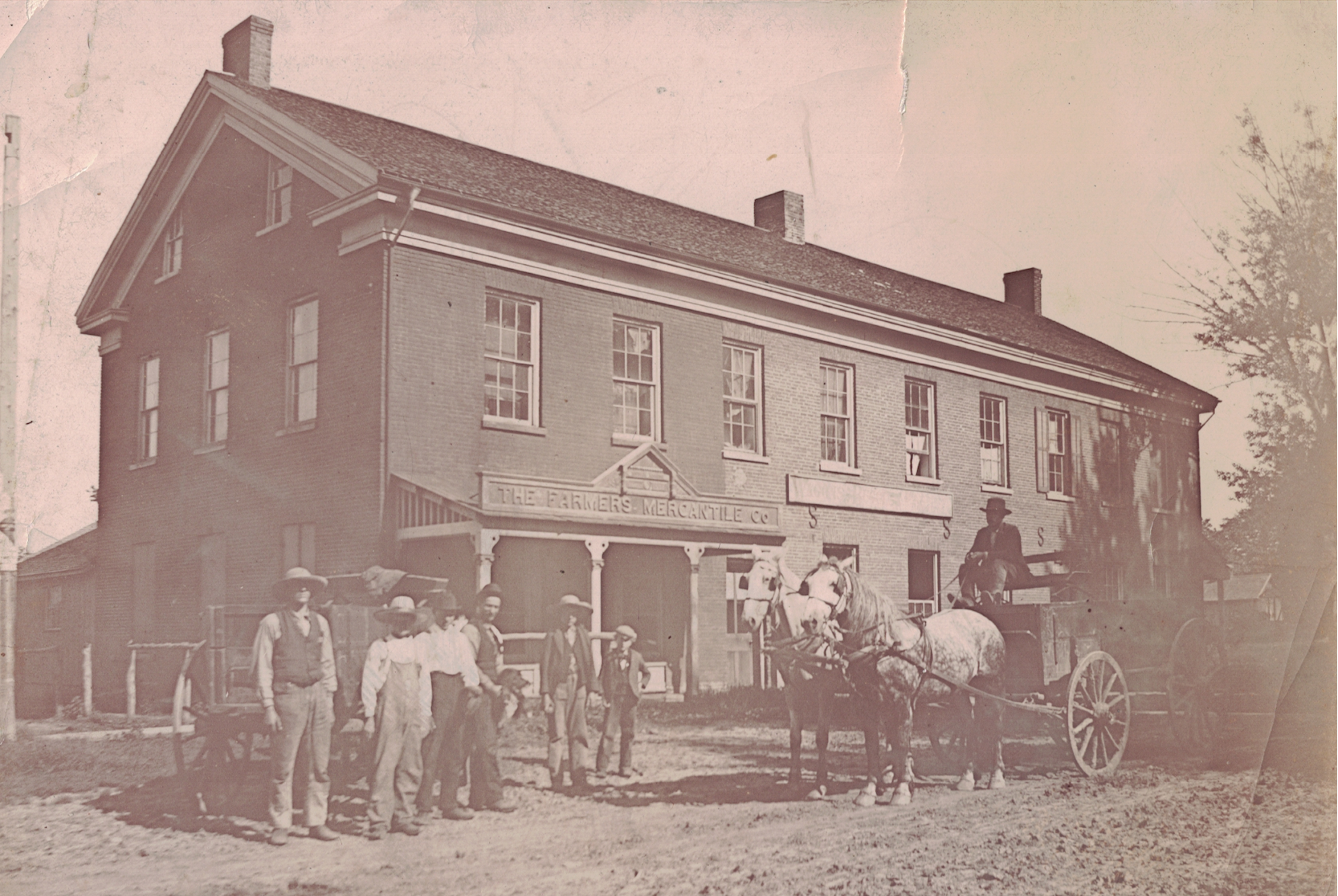 Historic photo of the Blacksmith shop from the late 1880s.