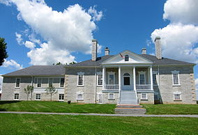 Belle Grove's manor house, built in 1797 in the Federal style of architecture, popular in Early America.