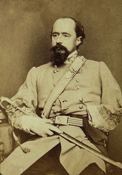 "General W.W. Loring, known to his men as ""Old Blizzards."" Earlier in the war at the Battle of Fort Pemberton, he had exhorted his artillery to ""give [the enemy] blizzards."" His arm had been lost decades before in the Mexican War."