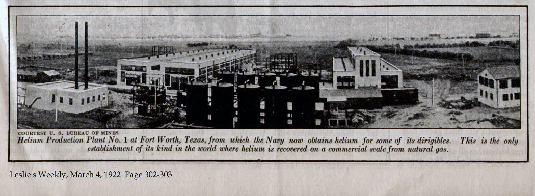 Helium Production Plant #1, Fort Worth, Texas 1922