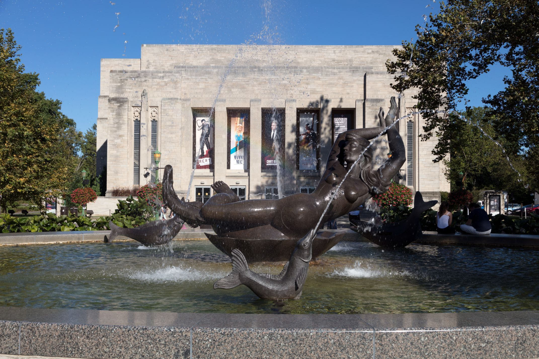 Showalter Fountain on Indiana University Bloomington campus