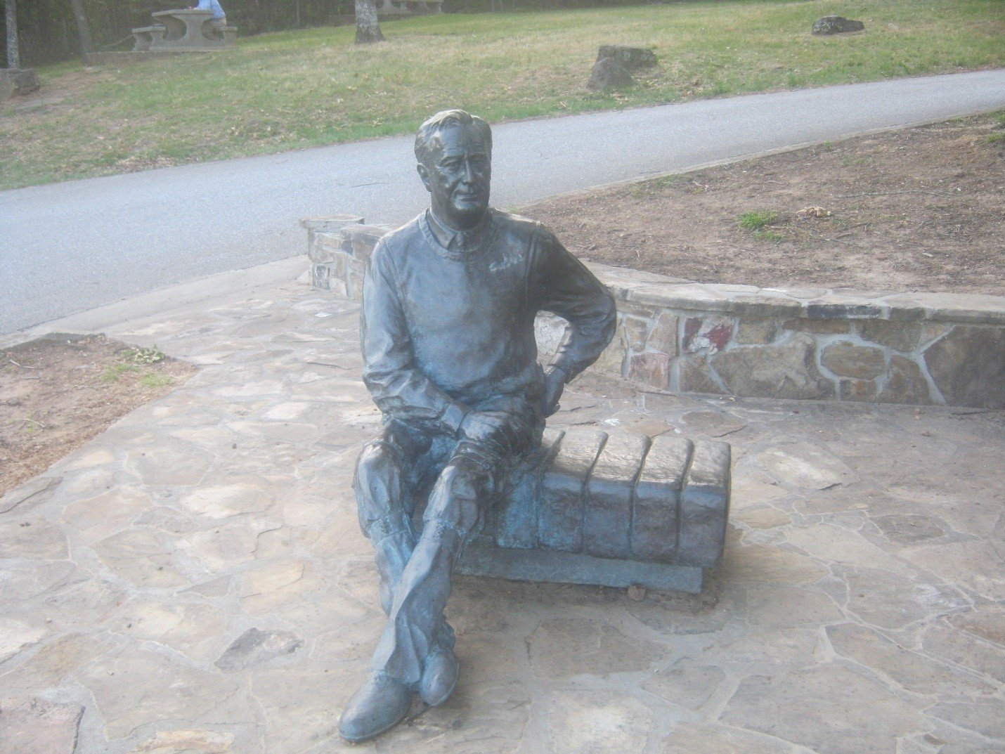 FDR Statue Overlooking Dowdell's Knob