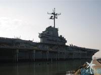 The USS Lexington sitting dock in Texas.