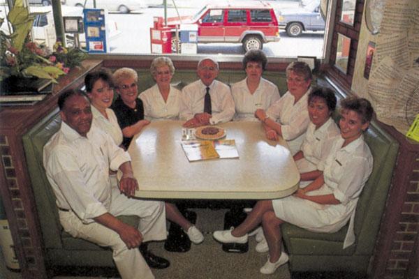 Jim Tweel with his staff