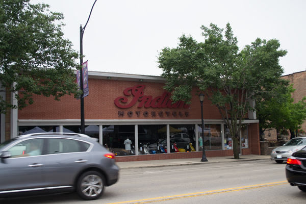 Indian Motorcycle in 2016. The dealership occupied 416 N. Milwaukee Ave from 2015 to 2020