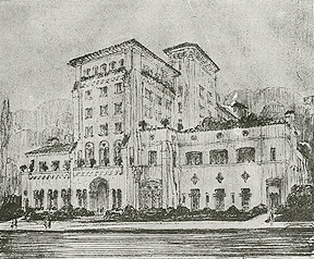 Sketch of the Berkeley City Club (1930)