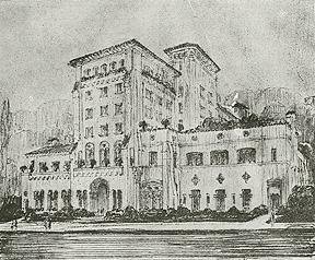 Sketch of the Berkeley City Club (1930)