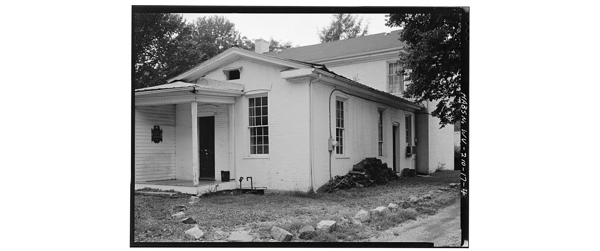 Rear wing, looking southwest at the Putney House, circa 1980