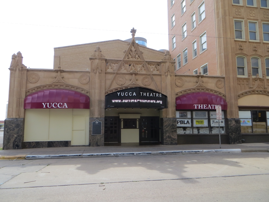 The Yucca Theatre was built in 1927 and remains a popular entertainment venue.