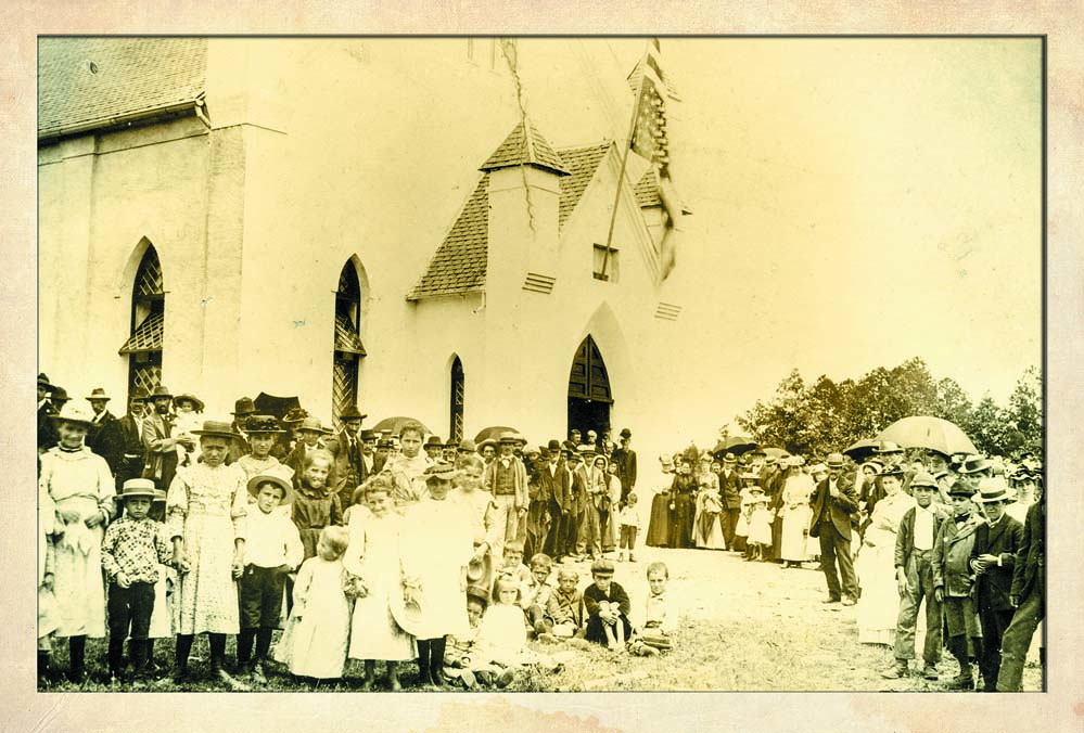 The Waldensian Church across the street from the museum, as it looked in the 1890s.