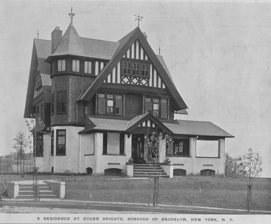 The Saitta House as it appeared in the early 1900s