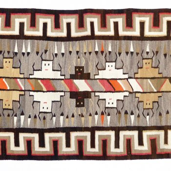 Tapestry on Display: Navajo Buffalo Spirits Pictorial Textile