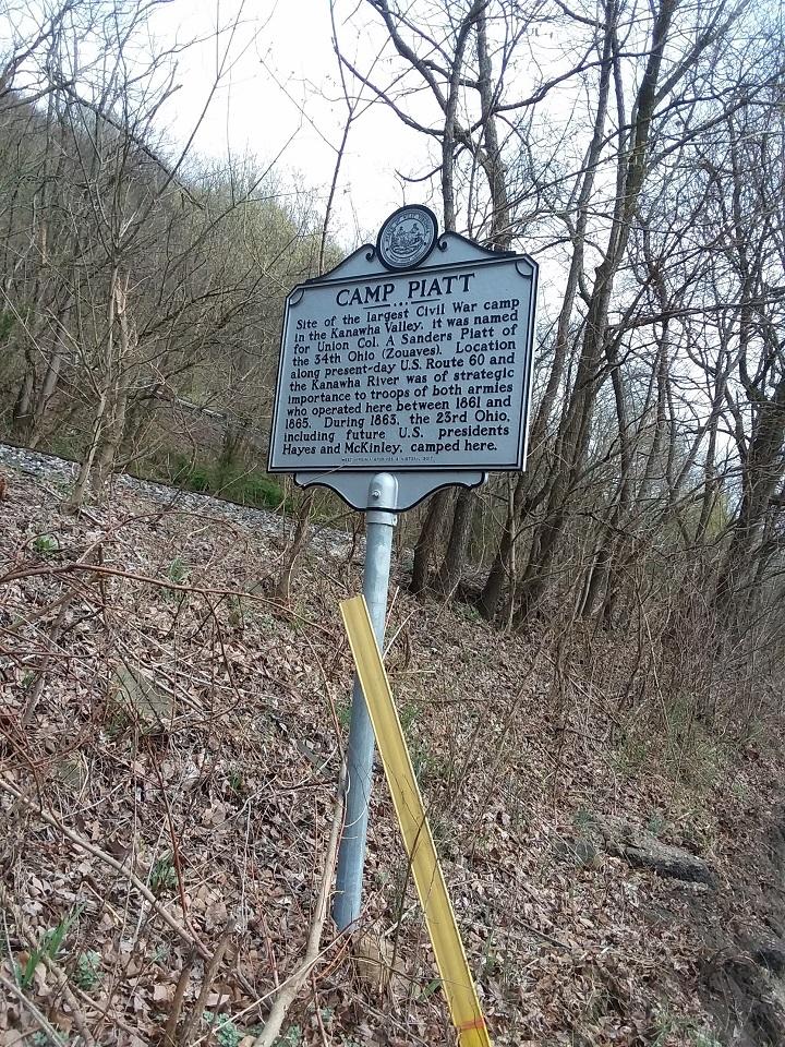 Camp Piatt Historic Marker