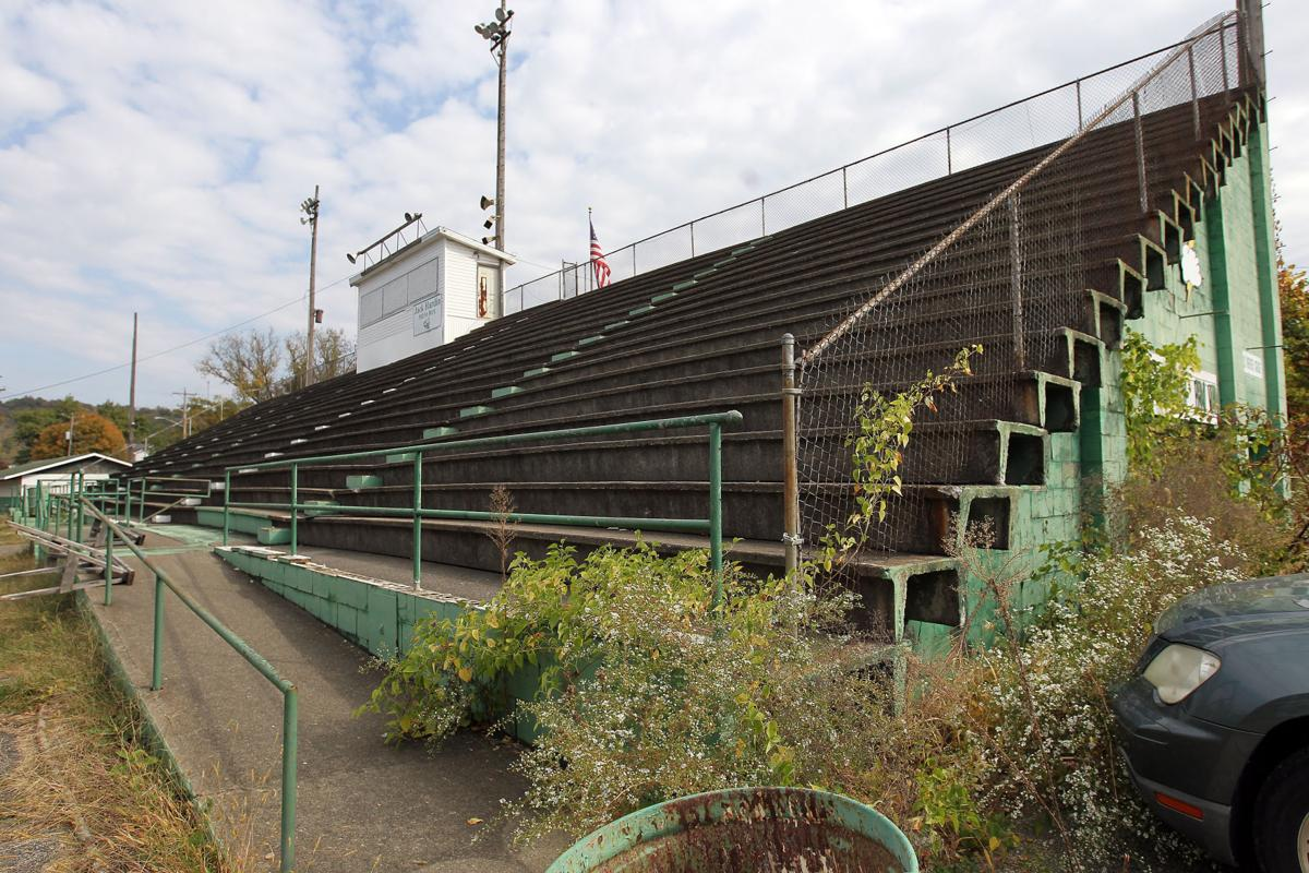 The  original bleachers seen here were demolished in 2018